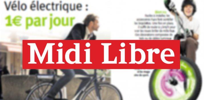 Midi Libre : Le vélo électrique à 1€/jour d'Holland Bikes