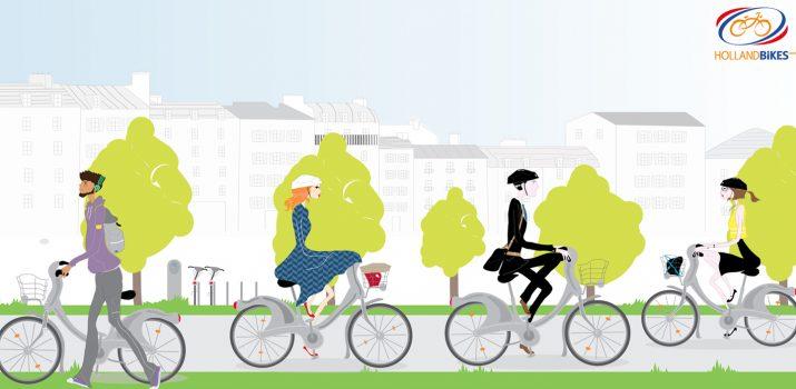 La gamme d'accessoires pour vélos en libre-service !