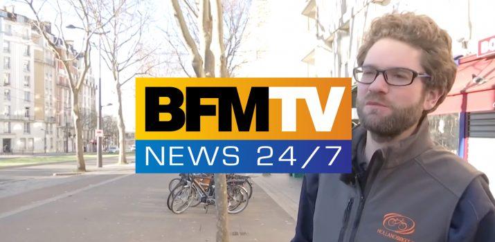 BFM TV : Faire du vélo en hiver