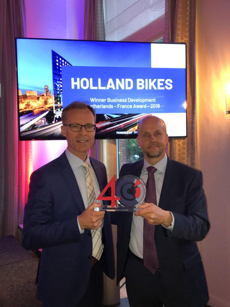 Holland Bikes désignée meilleure entreprise franco-néerlandaise 2019