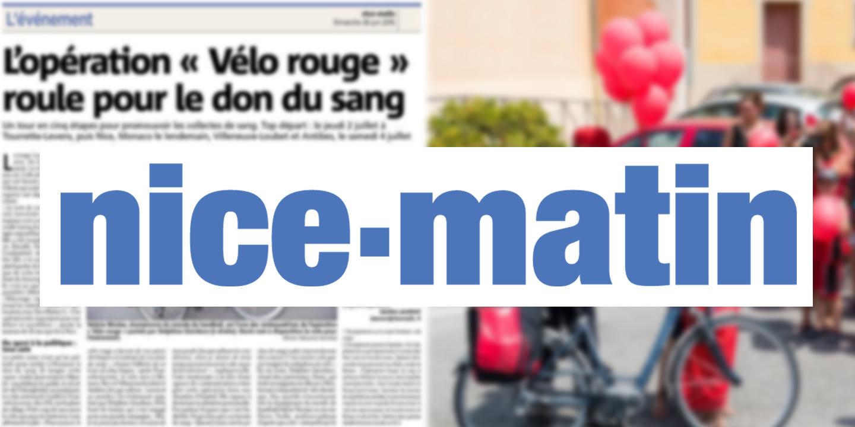 Nice-Matin : Holland Bikes, partenaire de l'Opération vélo rouge