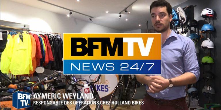 BFM TV : Holland Bikes, pour la piétionisation des voies sur berges à Paris