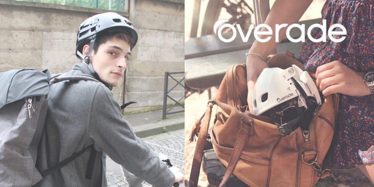 Overade, à la découverte du casque vélo pliable